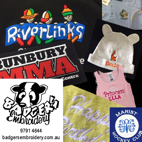 Badgers Embroidery - Bunbury