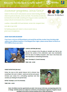 Nearer to Nature School Holiday Program